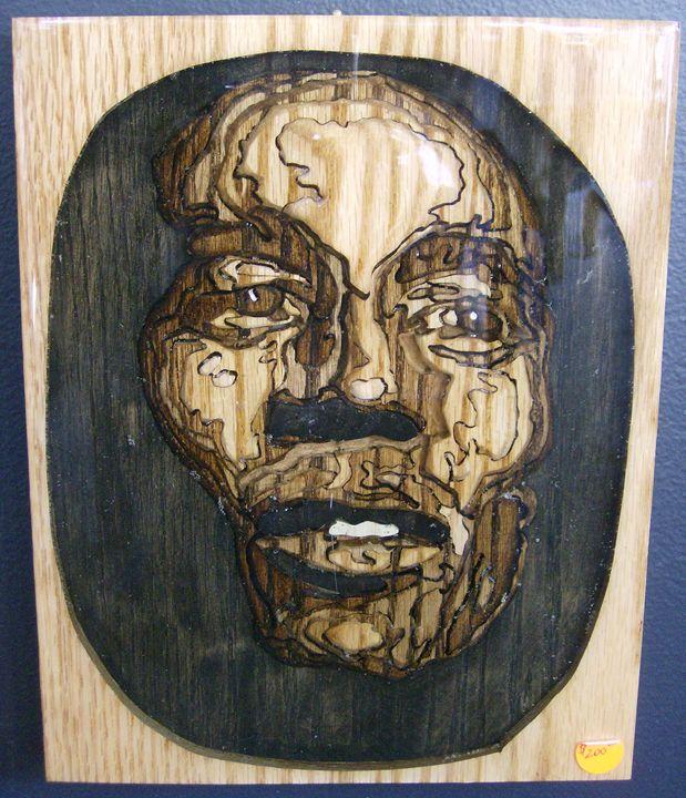 Bob under acrylic - Scroll saw art