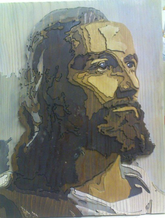 Jesus - Scroll saw art