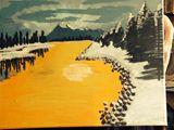 11x14 acrylic mountain painting