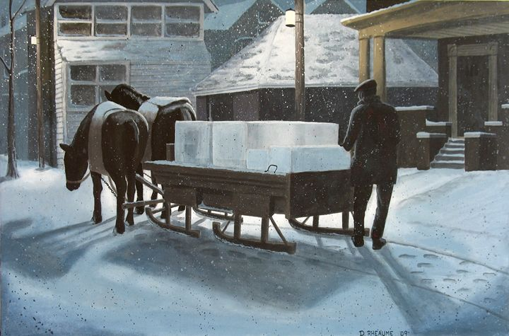 Delivering Ice - Dave Rheaume Artist