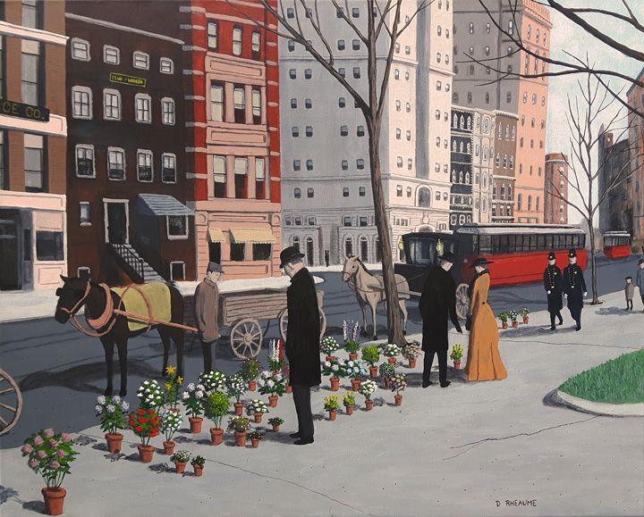 New York Flower Vendors - Dave Rheaume Artist