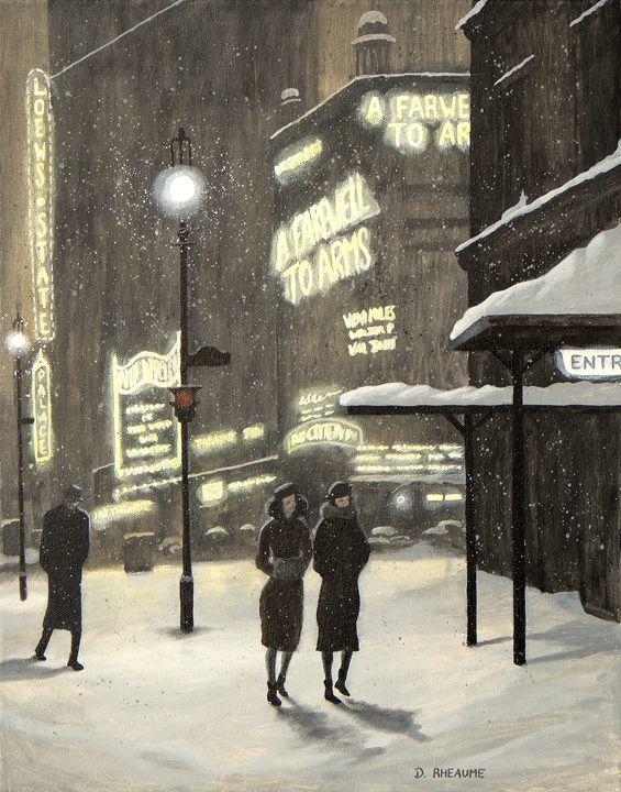 Broadway Night - Dave Rheaume Artist