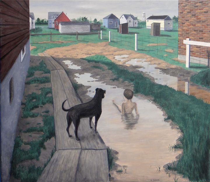 Jesse and Gene - Dave Rheaume Artist
