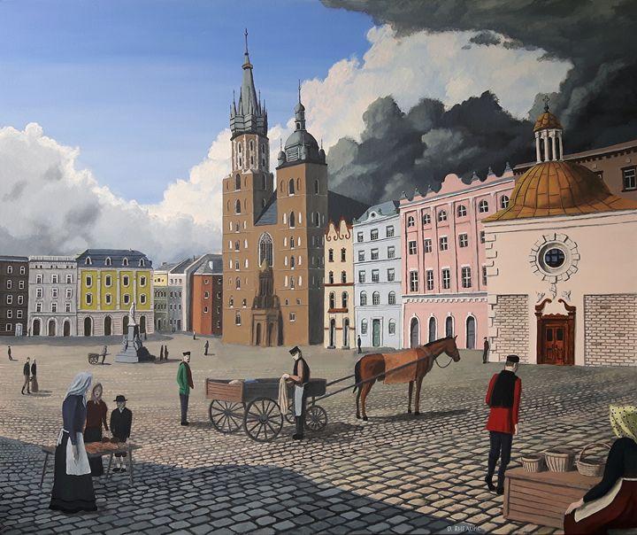 Krakow Town Square - Dave Rheaume Artist