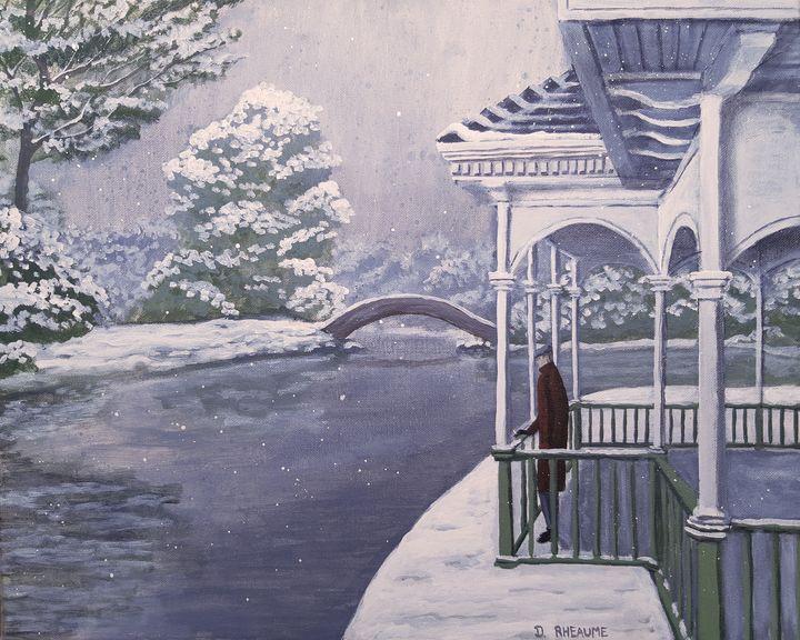 Snow on St. Stephen's Green - Dave Rheaume Artist