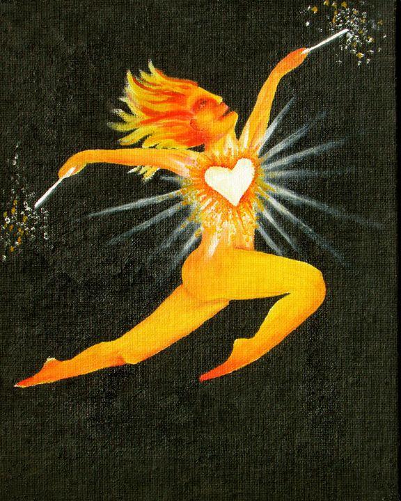 Heart on Fire - 2 of Fire - Calliope Braintree's Tarot Series