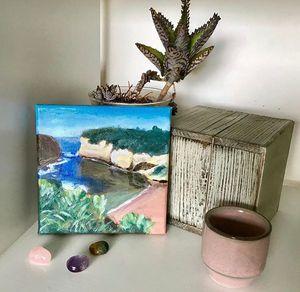 Loch Ard Gorge mini painting