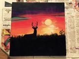 Buck in Sunset