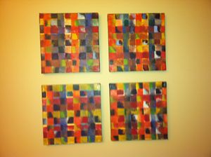 Squares - oil on canvas