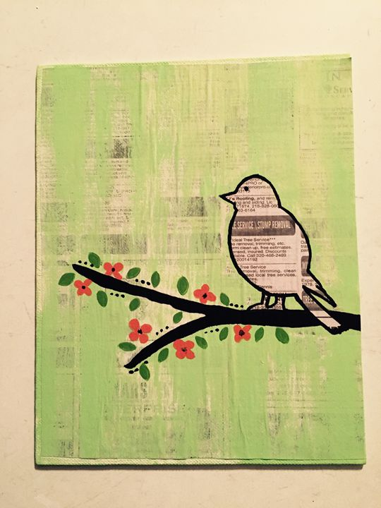 Newspaper Bird - Amanda's Art
