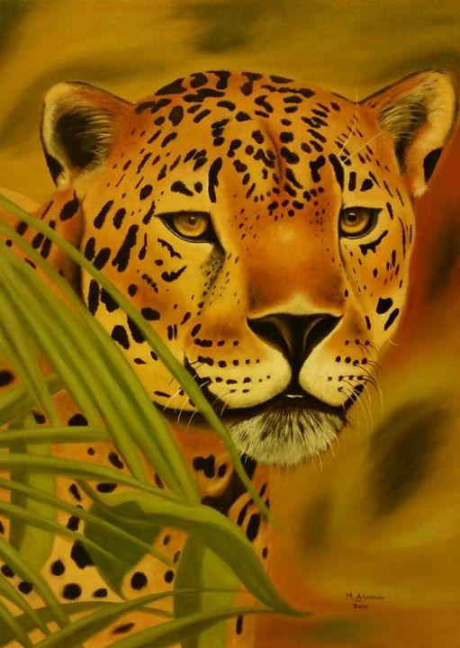 The jaguar - Alvarado oil paintings