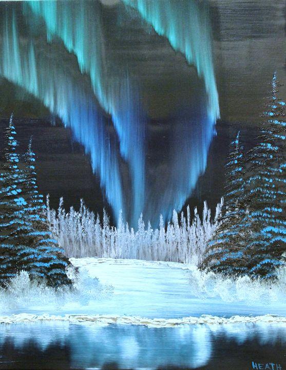 Aurora on the Lake - Raven's Claw Fine Art