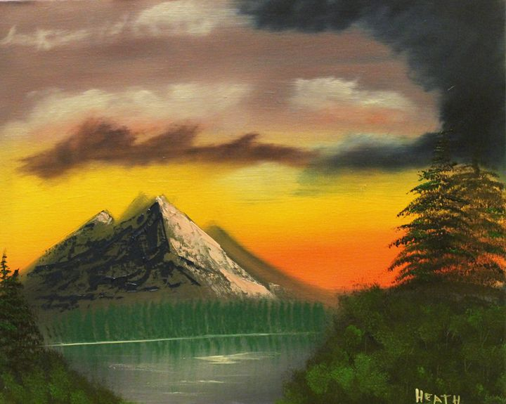 Mountain Sunset - Raven's Claw Fine Art
