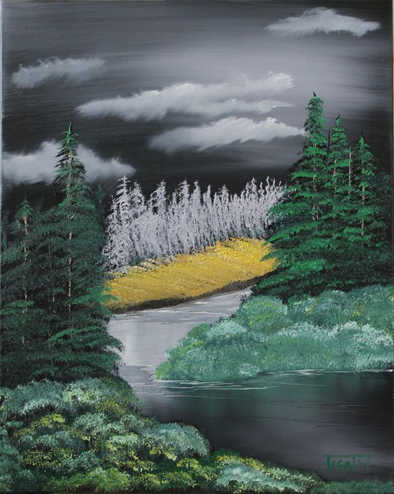 Moonlit River - Raven's Claw Fine Art