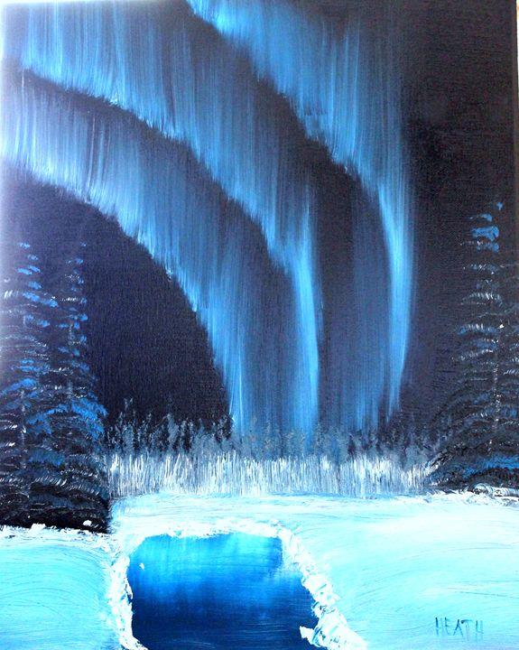 Aurora on the Pond - Raven's Claw Fine Art