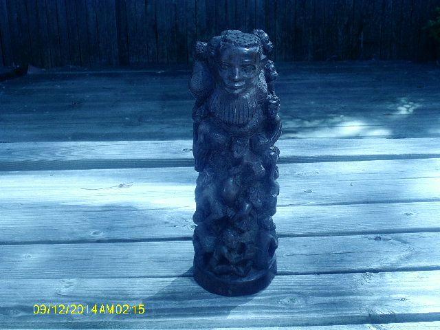 estate ebony sculpture - Rofeti art