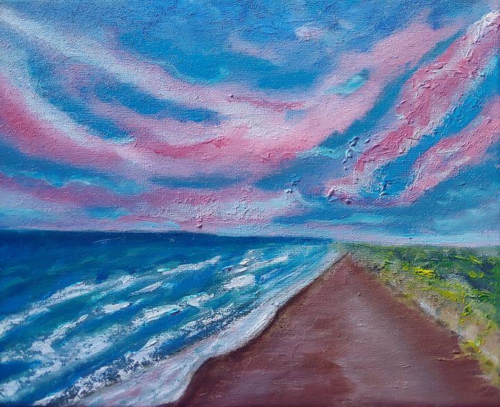 Cotton candy beach day - Rachel Dziga