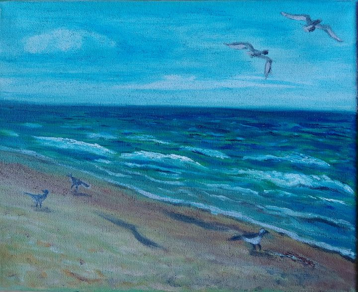 Sandy birds - Rachel Dziga