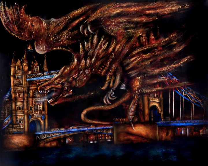 The Dragon of Westminster - Grant Rose fine art