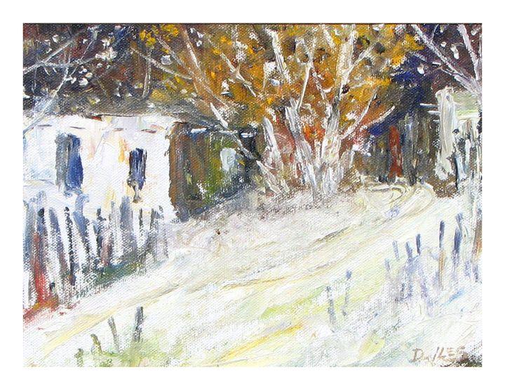 Old Taos Adobes - Dave E. Iles Fine Art