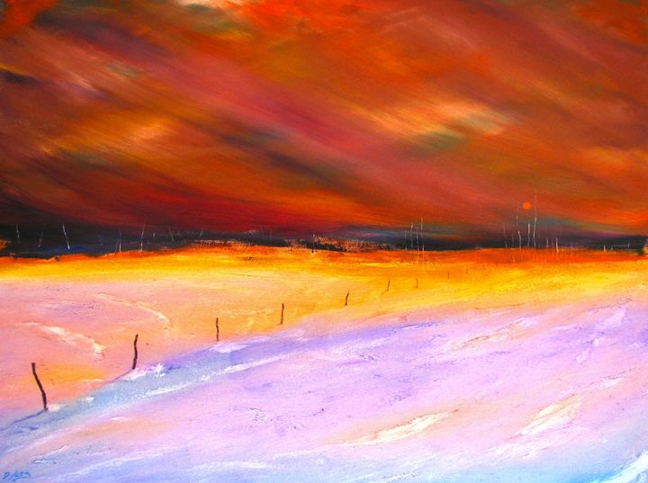 Sunset on Taos Mesa - Dave E. Iles Fine Art