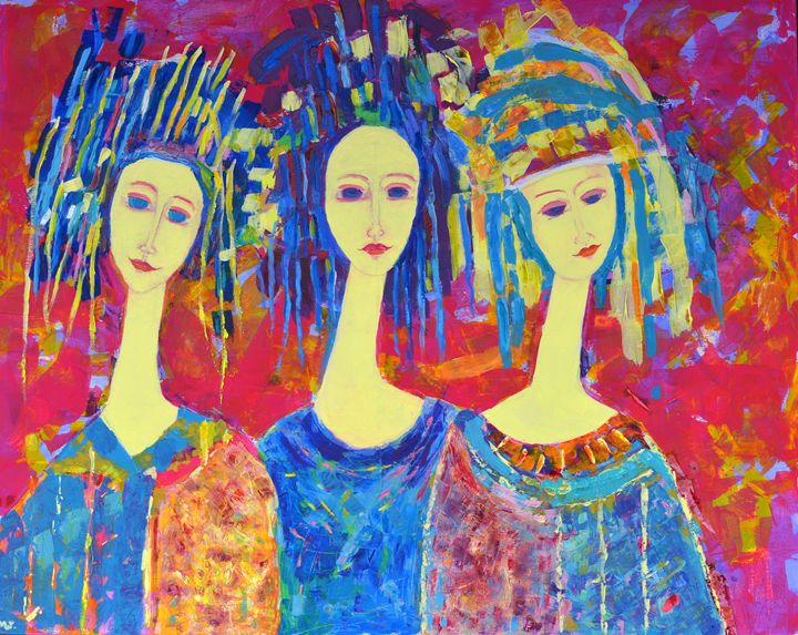 Abstract woman decor oil painting - Modern Oil Painting Gallery
