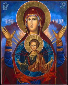 Byzantine icon Virgin Mary and Child