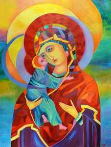 Madonna and Child Modern Artwork