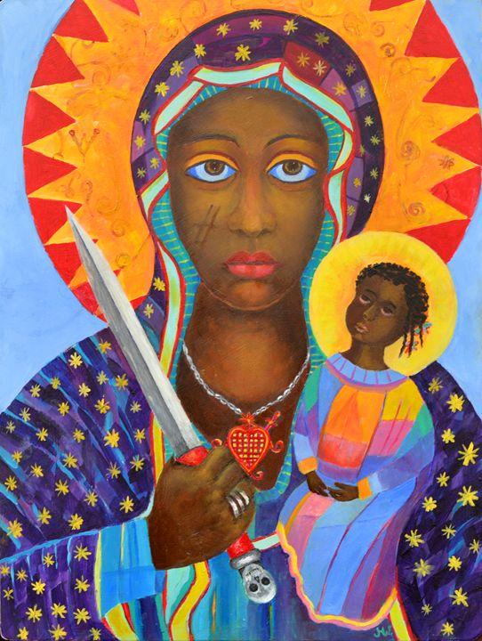 Erzulie Dantor Haiti voodoo art - Modern Oil Painting Gallery
