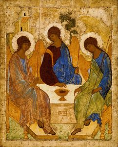 The Holy Trinity Russian Icon Rublev