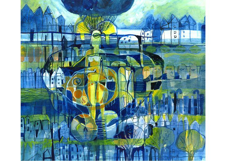 Eternity II - Paintings by Dipak Seal