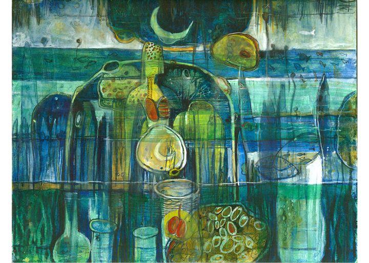 Eternity V - Paintings by Dipak Seal