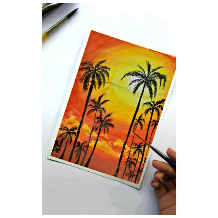 sunset drawing - Sezal Bhatia