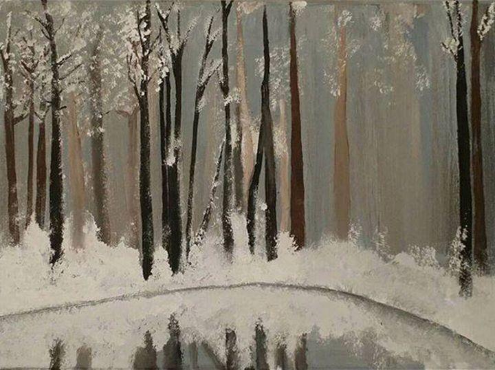Winter Woods - Katie Kaboom Art