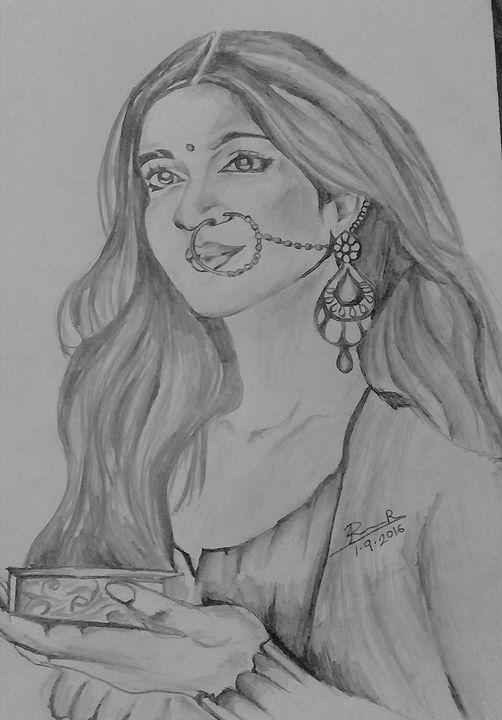 be3da65506 beautiful indian women - Roshni.R - Drawings & Illustration, People ...