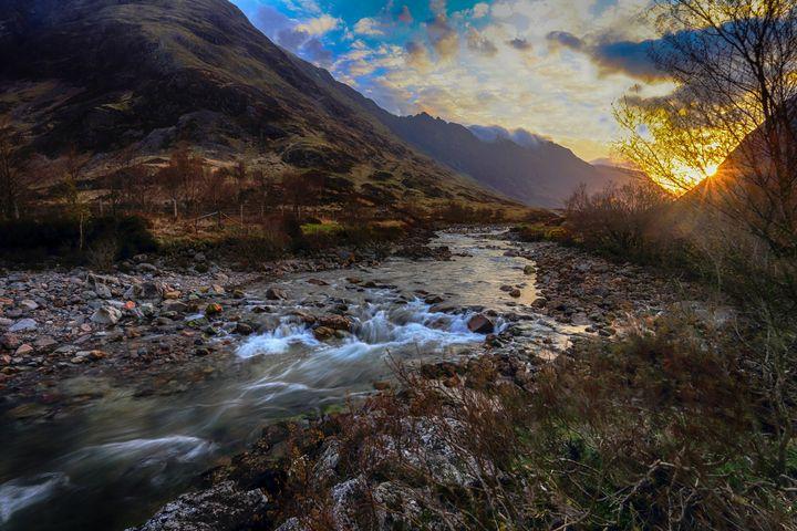 Sunrise over River Coe, Glen Coe - Ceri David Jones