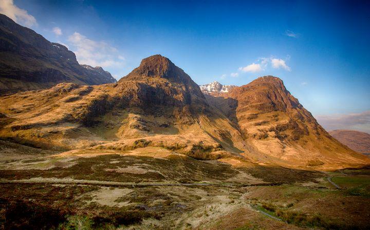 Sunlit Mountains of Glen Coe - Ceri David Jones