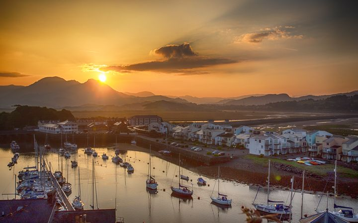 Porthmadog Harbour at Sunrise - Ceri David Jones