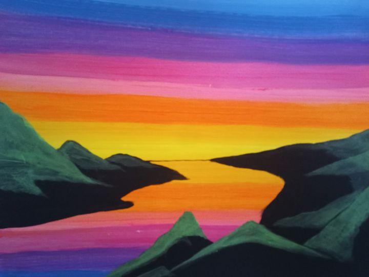 Rainbow River Painting