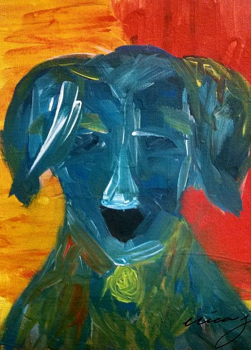 Dog Art Coonhound - EricaJ-LA Dog Portraits