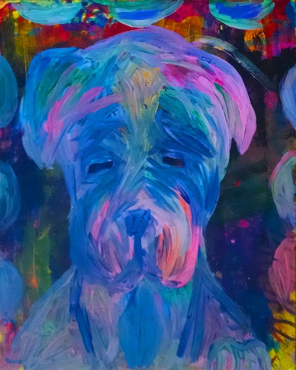 Mastiff Puppy Painting - EricaJ-LA Dog Portraits