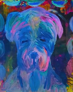 Mastiff Puppy Painting