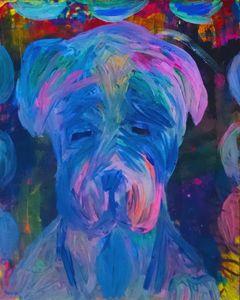 Mastiff Puppy Painting - EricaJ-LA Dog Portraits