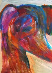 Colorful Greyhound Painting - EricaJ-LA Dog Portraits