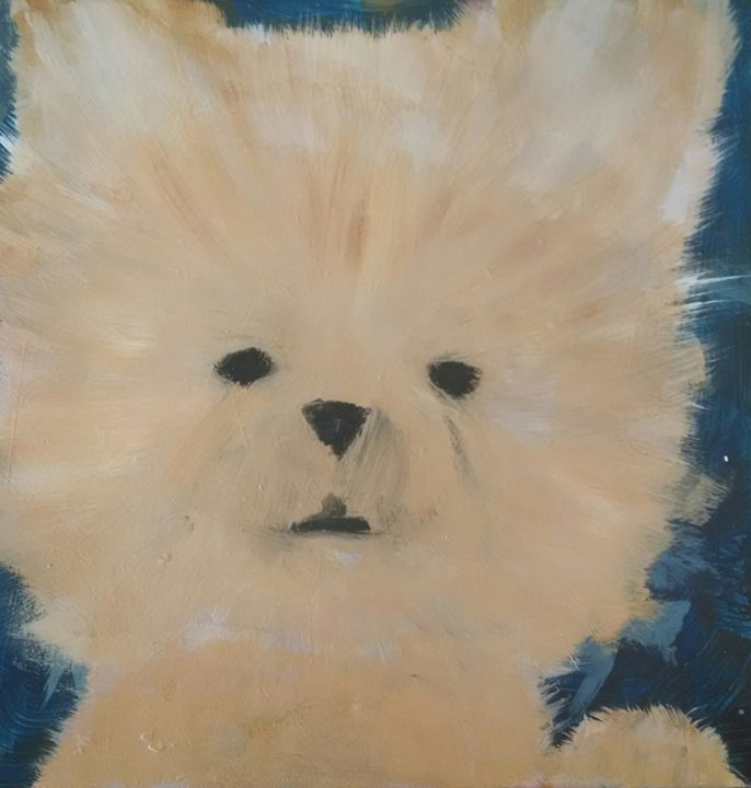 Dog Art Pomeranian - EricaJ-LA Dog Portraits