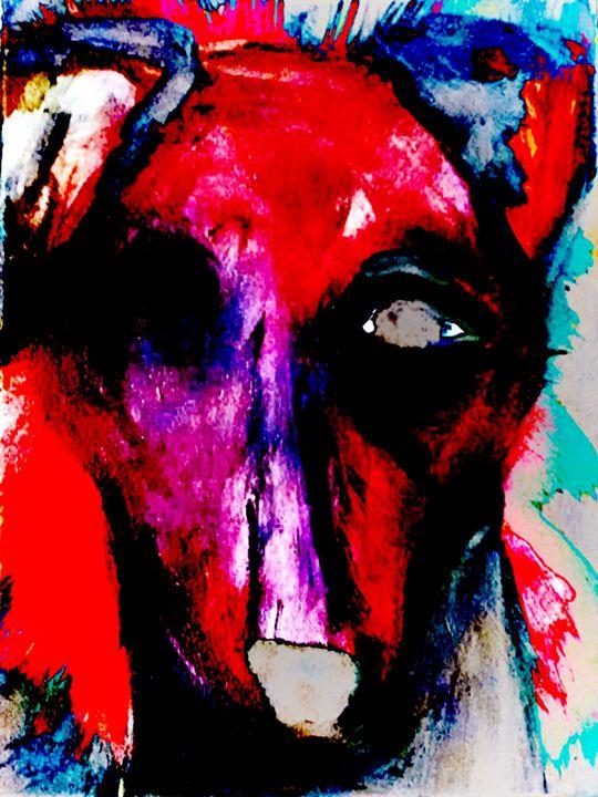 One Eyed Hound - EricaJ-LA Dog Portraits