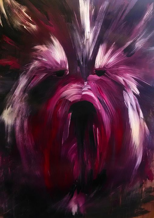 Yorkshire Terrier in Purple - EricaJ-LA Dog Portraits