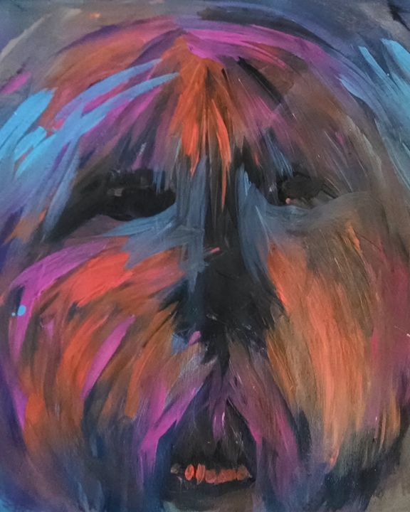 Dog Art - Old English Sheepdog - EricaJ-LA Dog Portraits