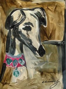 Dog Art -Whippet