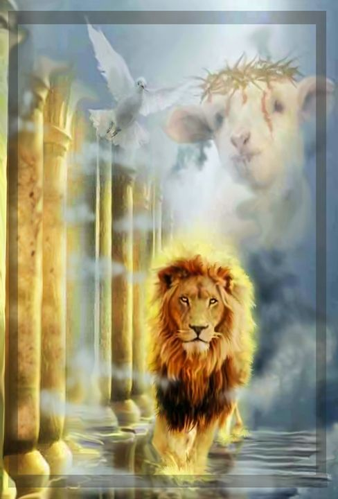 LION OF JUDAH - Prophetic art/SilentPreacher - Digital Art, Religion, Philosophy, & Astrology, Christianity, Scripture - ArtPal